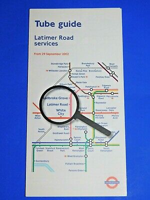 London Underground Tube Guide & Map Latimer Road Services September 2002 - Mint