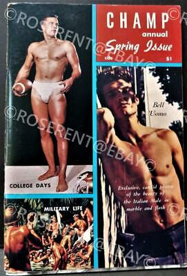 "1960s "" Champ"" annual Vintage Male Physique photo & Art Magazine - Spring Issue"