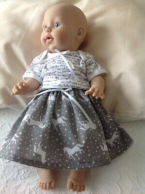 Dolls Clothes For Baby Annabell Including Skirt Bloomers And Top