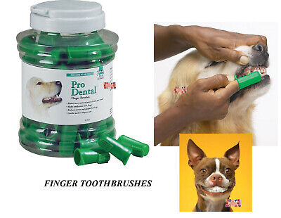 50 PET DOG CAT Finger Pro DENTAL Teeth RUBBER TOOTH BRUSH ORAL CARE Toothbrushes