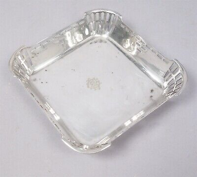 Antique Austria Art Krupp Behrendorff Pierced Secessionist Square Serving Bowl