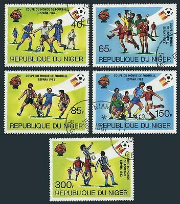 Niger 557-561,CTO.Michel 747-771. 1981.World Soccer Cup Spain-1982.