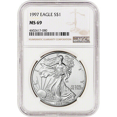 1997 American Silver Eagle - NGC MS69 - NGC Large Label