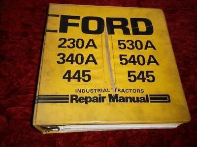 Ford Industrial 1975 to 1983 230A Diesel Service Workshop Manual