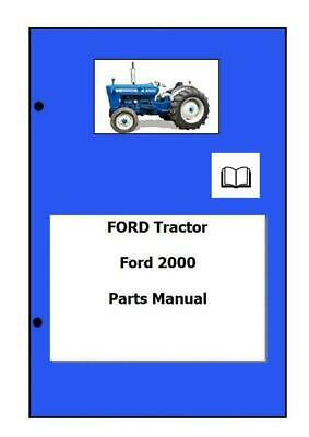 Ford 2000 Parts Manual Printed