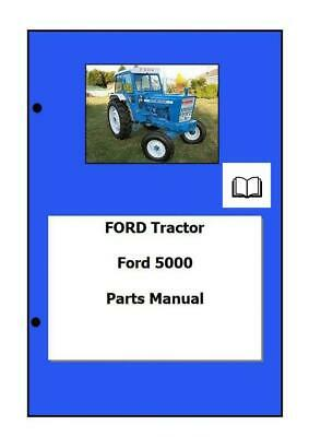 Ford 5000 Parts Manual Printed