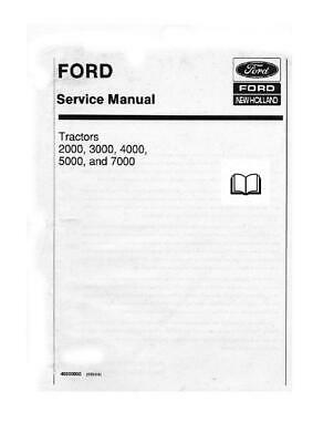 Ford 2000 to 7000 FULL Dealers Workshop Manual Printed