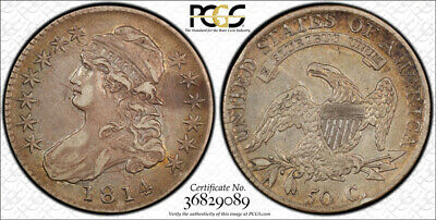 1814 50C Capped Bust Half Dollar PCGS XF 40 Extra Fine CAC Approved Original
