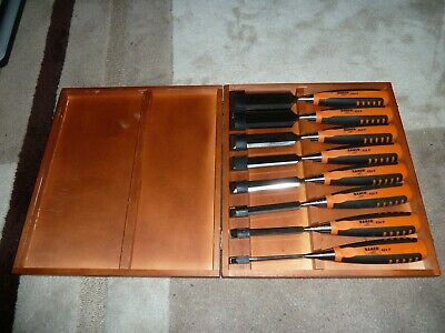 BAHCO 8 CARPENTERS BEVEL EDGE CHISEL SET Genuine NEW 424P-S8-EUR Boxed 6 to 36mm