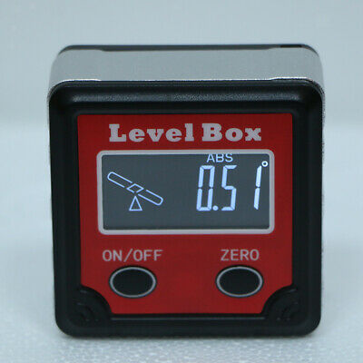 Digital Angle Gauge Inclinometer LCD Inclination Box Electronic Angle Meter