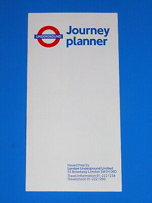 LONDON UNDERGROUND TUBE MAP No 1 1987 6/87 RARE VERSION WITHOUT COPYRIGHT - MINT