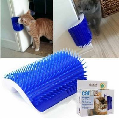 Pet Cat Self Groomer Grooming Tool Hair Removal Brush Comb for Dogs Cats Blue
