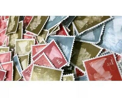 500 1st Class (First) Unfranked Stamps Off Paper No Gum Security CHEAPEST!!!