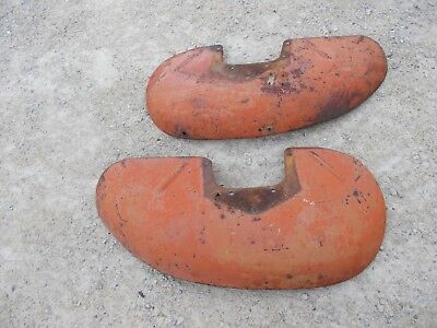 Allis Chalmers AC WD tractor Original pair / set of fenders w/ mounting brackets