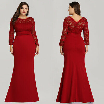 12e6466d8fa Ever-pretty US Long Sleeve Mother Of Bride Formal Dresses Mermaid Evening  Gowns