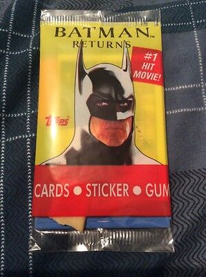 rare sealed 1992 topps card pack batman returns movie cards