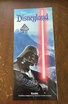 Disneyland DLR Fold Out Information Map Guide Cover: Darth Vader Star Wars