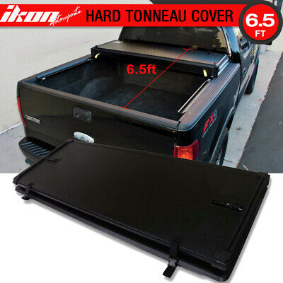 Fits 04-13 Ford F-150 6.5ft 78inch Bed Lock Tri-Fold Hard Solid Tonneau Cover