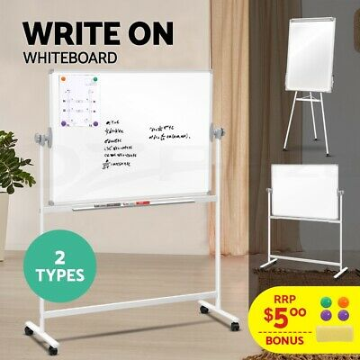Large Mobile Whiteboard Magnets Stand Flipchart 1800x1200mm 1200x900  600x900mm