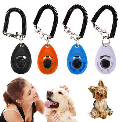 Dog Pet Training Clicker Trainer Teaching Tool  Pet Click Whistle Keyring