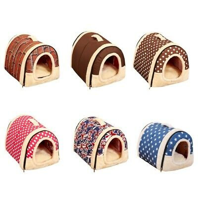 Winter Pet Dog House Kennel Soft Bed Cave Puppy Cat Bed Doggy Warm Cushion