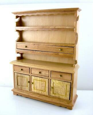 Dolls House Wooden Light Oak Dresser Miniature Kitchen Dining Room Furniture