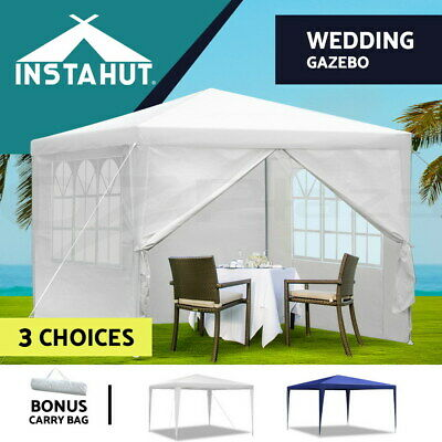 Instahut 3x3m Gazebo Party Wedding Marquee Event Tent Shade Canopy Camping