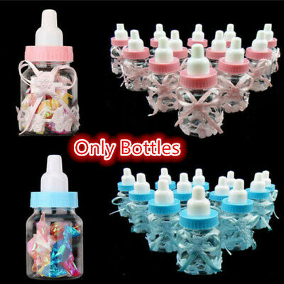 12 PCS Fillable Bottles Sweet Candy Boxes Baby Shower Baptism Party Table Decor