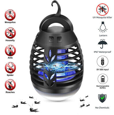 Outdoor Mosquito Zapper Killer Fly Insect Bug Trap Light Camping Lantern Lamp