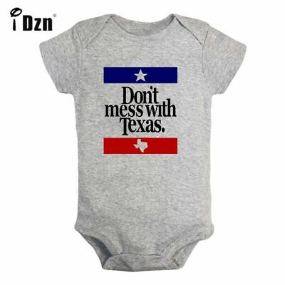 58e0a408b Don't Mess With Texas Newborn Jumpsuit Baby Short Sleeve Romper Bodysuit  Clothes