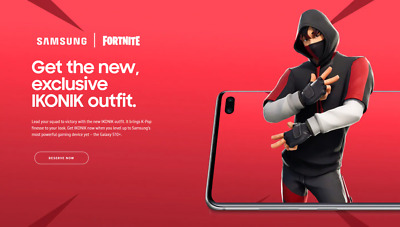 iKONIK skin + SCENARIO emote Fortnite Galaxy s10 exclusive!! (selling fast) UK