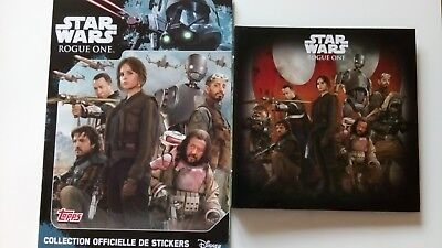 Album Star Wars Rogue One Topps Complet + Rogue One Leclerc Complet