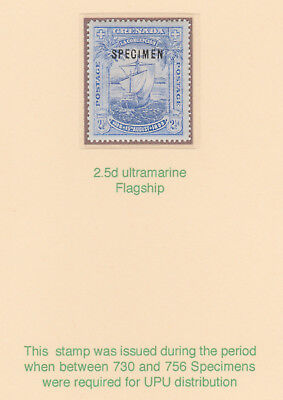 691  GRENADA 1896 COLUMBUS ANNIVERSARY  SPECIMEN - only about 750 produced