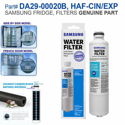 Samsung DA29-00020B HAF-CIN/EXP Fresh Refrigerator Genuine Water Filter 1PACK