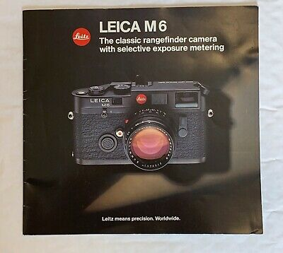 Leica M6, 8 x 8 In, 28 Page Product Brochure