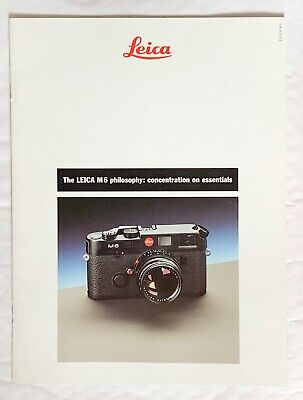 Leica M6,  A4 Product Brochure