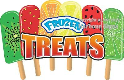 Frozen Treats DECAL (CHOOSE YOUR SIZE) Popsicle Food Truck Vinyl Sign Concession