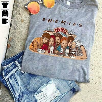 Game Of Thrones Characters Enemies Friends Central Perk Grey Men S-6XL T-Shirt