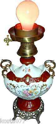 Antique Victorian Style, Electric Lamp Body, Brass Ceramic with ornate design