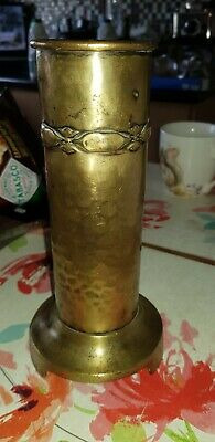 Antique Solid Brass Fire Iron Holder