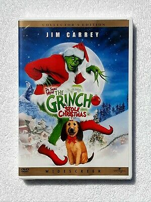 NEW Dr. Seuss' How The Grinch Stole Christmas DVD Widescreen 2001 Jim Carrey