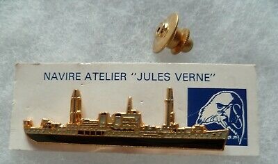 INSIGNE PINS MARINE NATIONALE NAVIRE ATELIER JULES VERNE Collector pin