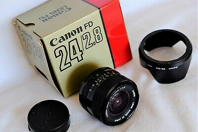 BOXED CANON FD FIT  F2.8 24mm WIDE ANGLE LENS (FILM OR DIGITAL) MINTY CONDITION
