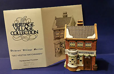 Department 56 59269 1988 Geo Weeton Watchmaker Dickens Village Series Retired