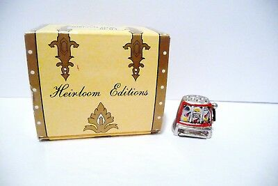 Thimble Pewter Heirloom Editions Slot Machine W/Handpainted Accents Iob