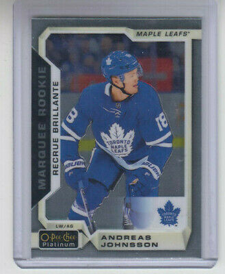 18/19 OPC Platinum Toronto Maple Leafs Andreas Johnsson RC card #197