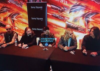 Judas Priest Signed Firepower Lp From Bands Nyc In Store Appearance March 19Th