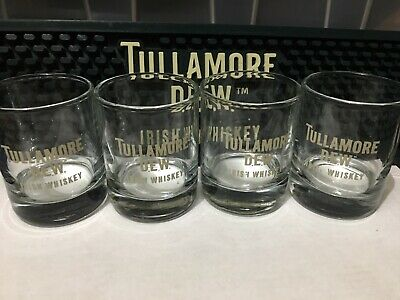 Tullamore Dew Shot Glass Set Of 4  New.