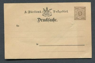 German States - Wurttemberg : Classic stationary from 1892 - mint