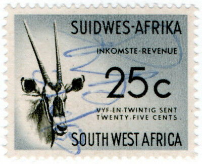 (I.B) South-West Africa Revenue : Duty Stamp 25c